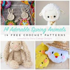 Use these adorable free crochet patterns to make Easter basket gifts, home decorations, and more! A collection of fun crochet patterns for spring!