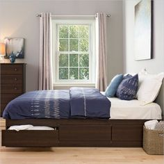 Prepac Sonoma Espresso King Platform Storage Bed - transitional - Beds - Cymax $563.95