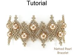 Beading Tutorials and Patterns - Beaded Bracelet - Netting Stitch - Simple Bead Patterns - Netted Pearl Bracelet #25803 by SimpleBeadPatterns on Etsy https://www.etsy.com/listing/558147807/beading-tutorials-and-patterns-beaded #braceletstutorials