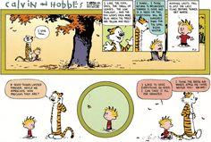 """Within a year, """"Calvin and Hobbes"""" was being published in roughly 250 newspapers. Description from businessinsider.my. I searched for this on bing.com/images"""