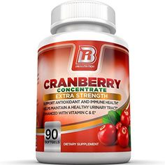Product review for BRI Nutrition 3x Strength 12,600mg CranGel Power Plus: High Potency, Maximum Strength Cranberry SoftGel Capsules With 12,600 Grams Equivalent of Cranberries Fortified with Vitamins C and Natural E - 90 Softgels -  With 12,600mg of antioxidant power through highly concentrated proanthocyanidins, you're giving your body all the cranberry you need to help fight free radicals and stave off painful urinary tract infections. The positive effects of cranberr