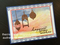 thecraftyyogi.blogspot.com, audramonk.stampinup.net, Stampin' Up, Moroccan Nights, water color, copper embossed card.