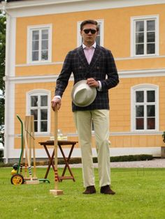 Magee DB jacket and fine twill trousers
