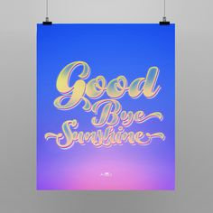 Poster inspirado na música Goodbye Sunshine de Ryan Adams. Shop: http://locomattive.com.br