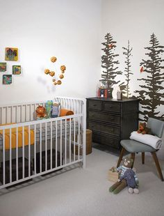white / grey / nature nursery