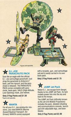 GI Joe Accessory   1990 Stretcher       Communications Pack BackPack