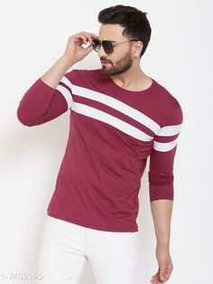 Checkout this latest Tshirts Product Name: *Trendy Men's T-Shirt* Fabric: Cotton Sleeve Length: Long Sleeves Pattern: Printed Multipack: 1 Sizes: S (Chest Size: 37 in, Length Size: 27 in)  M (Chest Size: 39 in, Length Size: 27.5 in)  L (Chest Size: 41 in, Length Size: 28 in)  Easy Returns Available In Case Of Any Issue   Catalog Rating: ★4 (235)  Catalog Name: Trendy Men's T-Shirt CatalogID_1207189 C70-SC1205 Code: 363-7493322-999