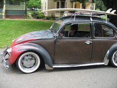 1967 VW Bug rat rod love the wood.