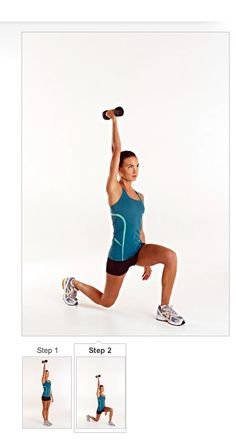 Fire up abs and quads with the Single-Arm Lunge #exercise