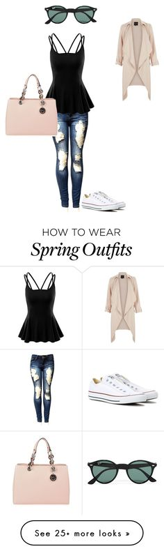 """Spring outfit inspiration #2"" by hammiegrl on Polyvore featuring Doublju, Converse, MICHAEL Michael Kors and Ray-Ban"