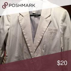 Chicos white lined blazer Chicos white lined blazer Chico's Jackets & Coats Blazers