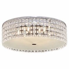 Luxway Gatsby LED Flush Mount Ceiling Light Led Flush Mount, Flush Mount Ceiling, Closet Light Fixtures, Decorative Beads, Closet Lighting, Glass Diffuser, Frosted Glass, Gatsby, Contemporary Style