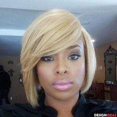 BLONDE BOB HAIRCUT FOR AFRICAN AMERICAN WOMEN