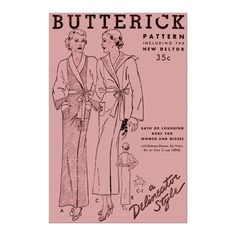 1920s Bath or Lounging Robe for Women & Misses by PatternAndStitch, $64.00