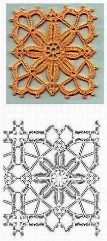 crochet motif with diagram