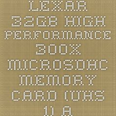 Lexar 32GB High Performance 300x microSDHC Memory Card (UHS-1) at 123InkCartridges Canada