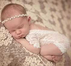 eff15ce22924 New Vintage Ivory Lace Bodysuit Newborn Girl s First Photo Gift Set Sweet   amp  Elegant Photo