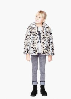 Leopárd szőrzetes kabát | MANGO KIDS