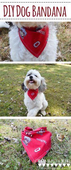 DIY Dog Bandana – Mary Martha Mama- dog bandana tutorial- how to make a dog bandana