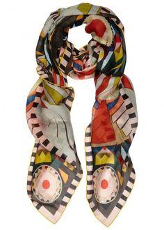 Givenchy multicoloured silk chiffon scarf