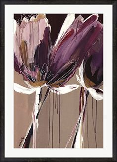 Aubergine Splendor II by Angela Maritz Framed Art Print Wall Picture, Espresso Brown Frame with Hanging Cleat, 31 x 43 inches