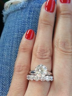 Tiffany 2.5 solitare, H VVS1 with 1.76 carat Tiffany band F color VS1. Ring size 6