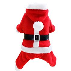 Christmas Pet ClothesElevinTM Christmas Pet Dog Cat Winter Clothes Puppy Warm Coat Four Legs Lover Cloth Costume L Red A *** Read more reviews of the product by visiting the link on the image. (Note:Amazon affiliate link)