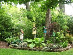 Rustic Landscaping Ideas | Landscape Design Ideas, Gardening Calendar and Rustic Birdhouses
