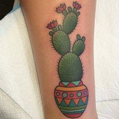 .@Clare Hampshire | cactus tattoo