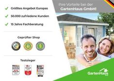 Seit 15 Jahren Ihr Fachhändler für Haus und Garten +++ Sale bis 31.3. +++ Bis 50% sparen auf – Gartenhaus, Sauna, Terrasse, Carport & Co.