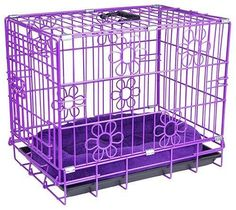 Purple Dog Crates - at The Purple Store Purple Love, All Things Purple, Purple Lilac, Shades Of Purple, Deep Purple, Purple Stuff, Magenta, Teal, Pink
