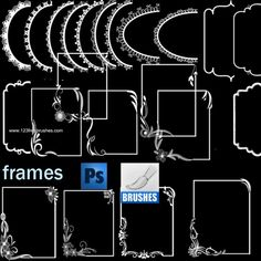 DeviantArt: More Like Free 2015 Calendar Photoshop Brushes by The-Graffical-Muse Free Photoshop, Photoshop Brushes, Decorative Borders, Borders And Frames, Floral Border, Photoshop Elements, Flower Frame, Free Brushes, 2015 Calendar