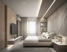 House Ceiling Design, Ceiling Design Living Room, Bedroom False Ceiling Design, Master Bedroom Interior, Bedroom Closet Design, Modern Master Bedroom, Bedroom Furniture Design, Home Room Design, Modern Ceiling Design
