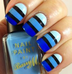 50 Ideas para pintar uñas color azul - Blue Nails | Decoración de Uñas - Manicura y Nail Art                                                                                                                                                                                 Más