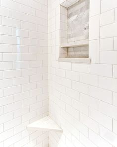 modern bathroom update before after, bathroom ideas, home improvement, small bathroom ideas, tile flooring, tiling, Completed Shower Subway Tile