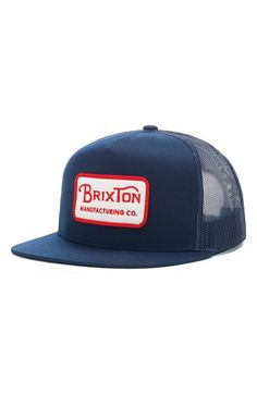 e5df9880407 Men s Brixton  Grade  Mesh Trucker Cap - Blue Workwear Fashion