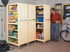 Garage Organizers Woodworking Plan Halloween Storage!!