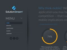 Dribbble - SolutionStream Redesign by Kyle Follett