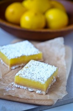Lemon bars with brown butter shortbread crust. (thanks for adding to my waistline, Martha Stewart)