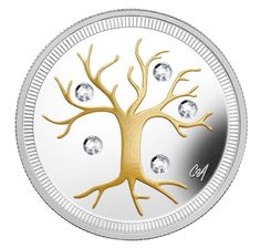 Fine Silver Coin - Jewel of Life Mint Coins, Gold And Silver Coins, 1 Oz, Sterling Silver Rings, Silver Earrings, Swarovski Crystals, Jewelry Design, Jewels, Life