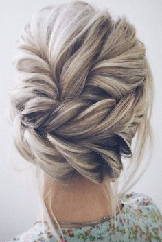 Braided Hairstyles Updo, Prom Hairstyles, Braided Updo, Hairstyles With Bangs, Updo Hairstyle, Bridesmaids Hairstyles, Evening Hairstyles, Hairstyle Ideas, Vintage Hairstyles