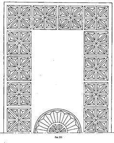 Геометрическая резьба по дереву рисунки