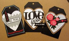 With All My Heart Stamp Set and the matching Heart Dies along with the New Zig-Zag edged Tag Die!!