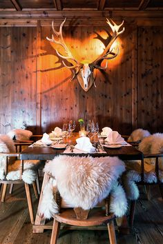 Hotel Kitzhof Mountain Design Resort, Kitzbühel, Austria  ~ love the cozy throws on the chairs