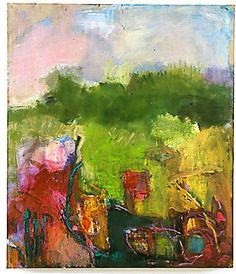 painting in early summer ~ oil on canvas ~ by micky schon