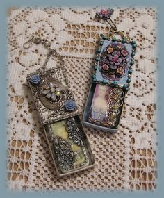 Artful Interludes: Jeweled Marie Matchbox & Domino set