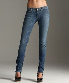 Women's 7 For All Mankind Roxanne Skinny Stretch Light Wash Jeans Blue 30 #7ForAllMankind #SlimSkinny