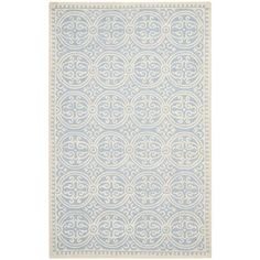 @Overstock.com - Safavieh Handmade Moroccan Cambridge Light Blue Wool Rug - This handmade wool rug will quickly become a center piece in your living room. Its intricate pattern and light blue color give it a subtle sophistication that works with any decor, and the 100 percent wool pile means it's both soft and durable.  http://www.overstock.com/Home-Garden/Safavieh-Handmade-Moroccan-Cambridge-Light-Blue-Wool-Rug/7530636/product.html?CID=214117 $69.29