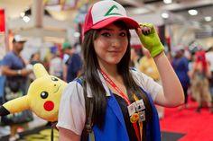 Female Ash Ketchum from Pokemon - she looks amazing!