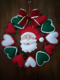 1 million+ Stunning Free Images to Use Anywhere Christmas Crafts To Make, Felt Christmas Decorations, Felt Christmas Ornaments, Christmas Sewing, Homemade Christmas Gifts, Christmas Art, Christmas Wreaths, Handmade Christmas, Felt Crafts